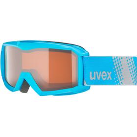 UVEX flizz LG Goggles Kinder blue/lasergold